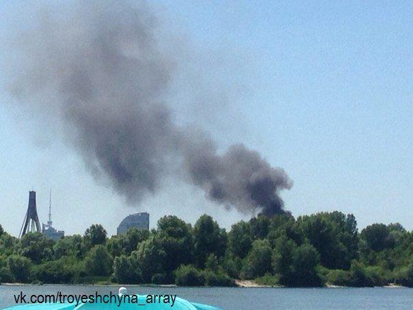 На Трухановом острове произошел пожар (ФОТО) (фото) - фото 1