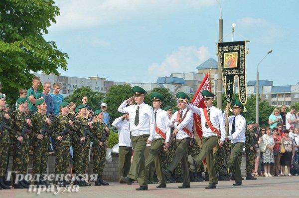 Фотофакт: В Гродно новобранцы-пограничники приняли военную присягу (фото) - фото 2
