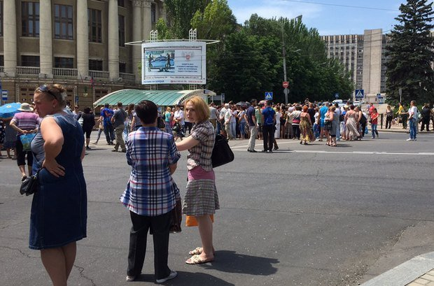 В «ДНР» состоялся первый антивоенный митинг. ВИДЕО (фото) - фото 2