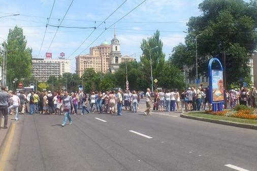 В «ДНР» состоялся первый антивоенный митинг. ВИДЕО (фото) - фото 1