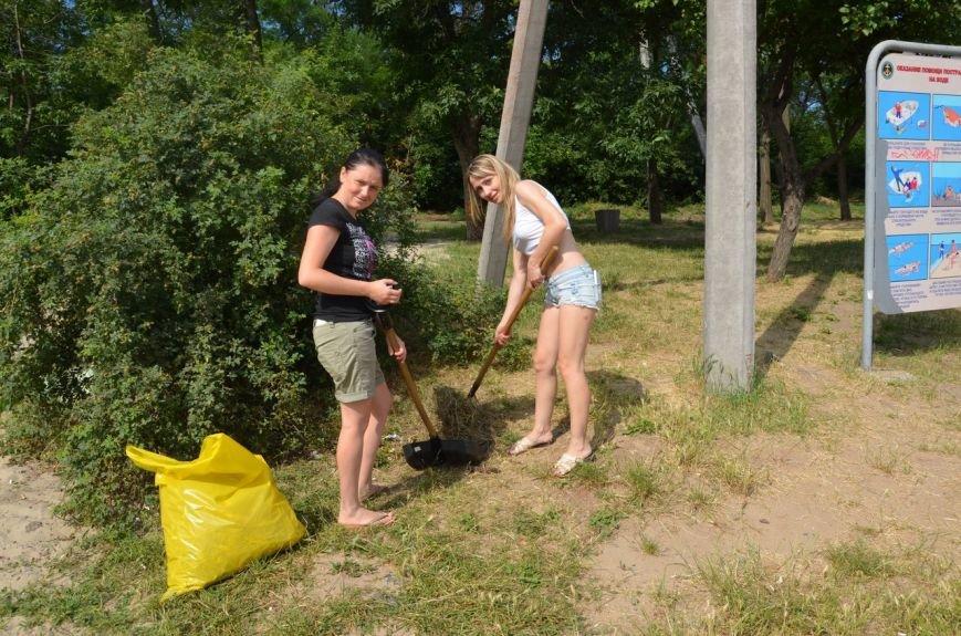 Криворожские активисты очистили дно реки и прибрежную зону на пляже в Терновском районе (ФОТО), фото-4