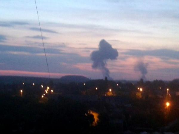 Над Донецком после вспышки и взрыва поднялся столб дыма в форме медведя (ФОТО) (фото) - фото 5