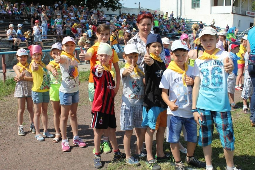 Веселые старты: в Димитрове прошел праздник спорта для детей из пришкольных лагерей (ФОТО) (фото) - фото 13