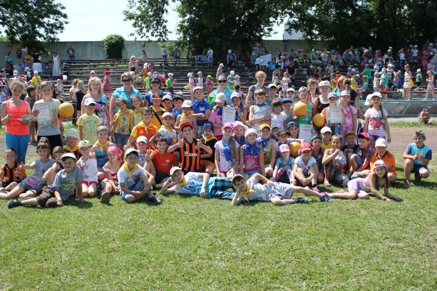 Веселые старты: в Димитрове прошел праздник спорта для детей из пришкольных лагерей (ФОТО) (фото) - фото 21