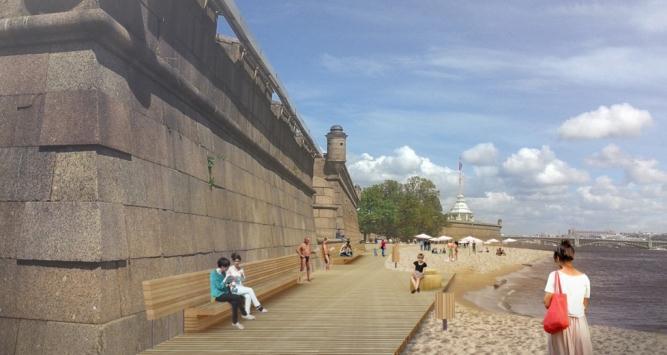 В акватории Невы у пляжа Петропавловской крепости может появиться плавучий бассейн (фото) - фото 1
