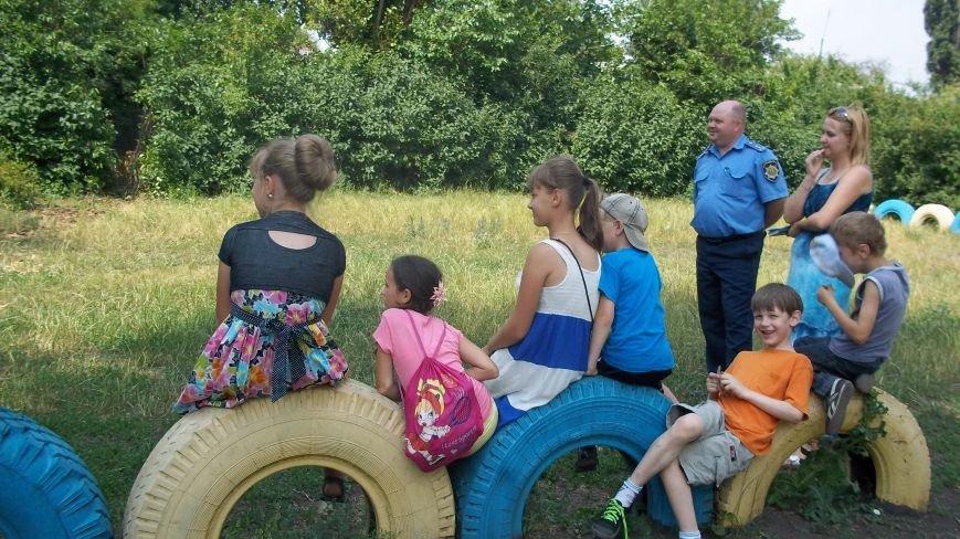 Красноармейские правоохранители встретились с детьми в пришкольных лагерях, фото-1