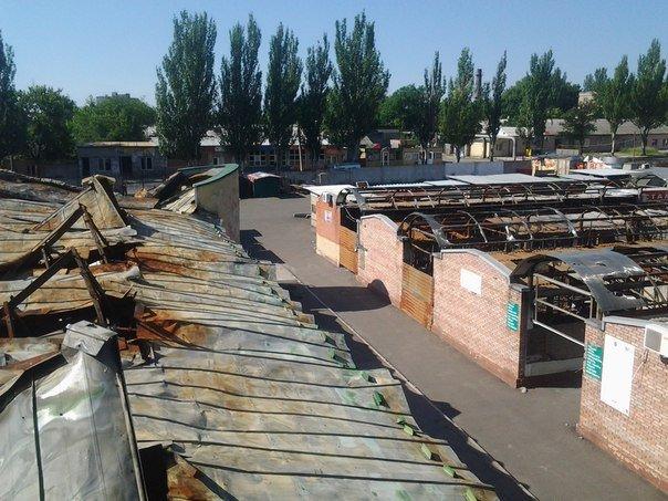 Что осталось от рынка на пр.Партизанский в Донецке после обстрелов (ФОТО) (фото) - фото 9
