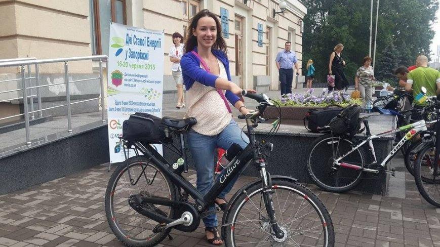 Запорожцы присоединились к всеукраинской акции «Велосипедом на работу» (ФОТО), фото-5