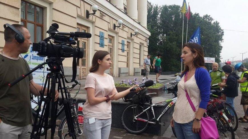 Запорожцы присоединились к всеукраинской акции «Велосипедом на работу» (ФОТО), фото-3