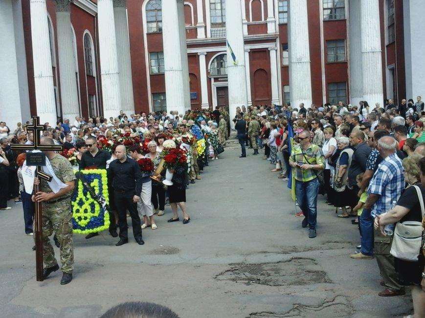 Сотни криворожан, став на колени, провели в последний путь бойца ДУКа Геннадия Дощенко (ФОТО), фото-36