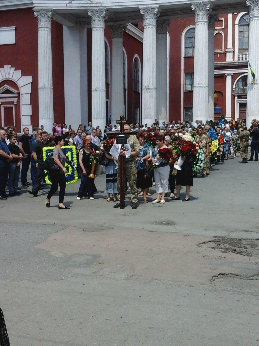 Сотни криворожан, став на колени, провели в последний путь бойца ДУКа Геннадия Дощенко (ФОТО), фото-33