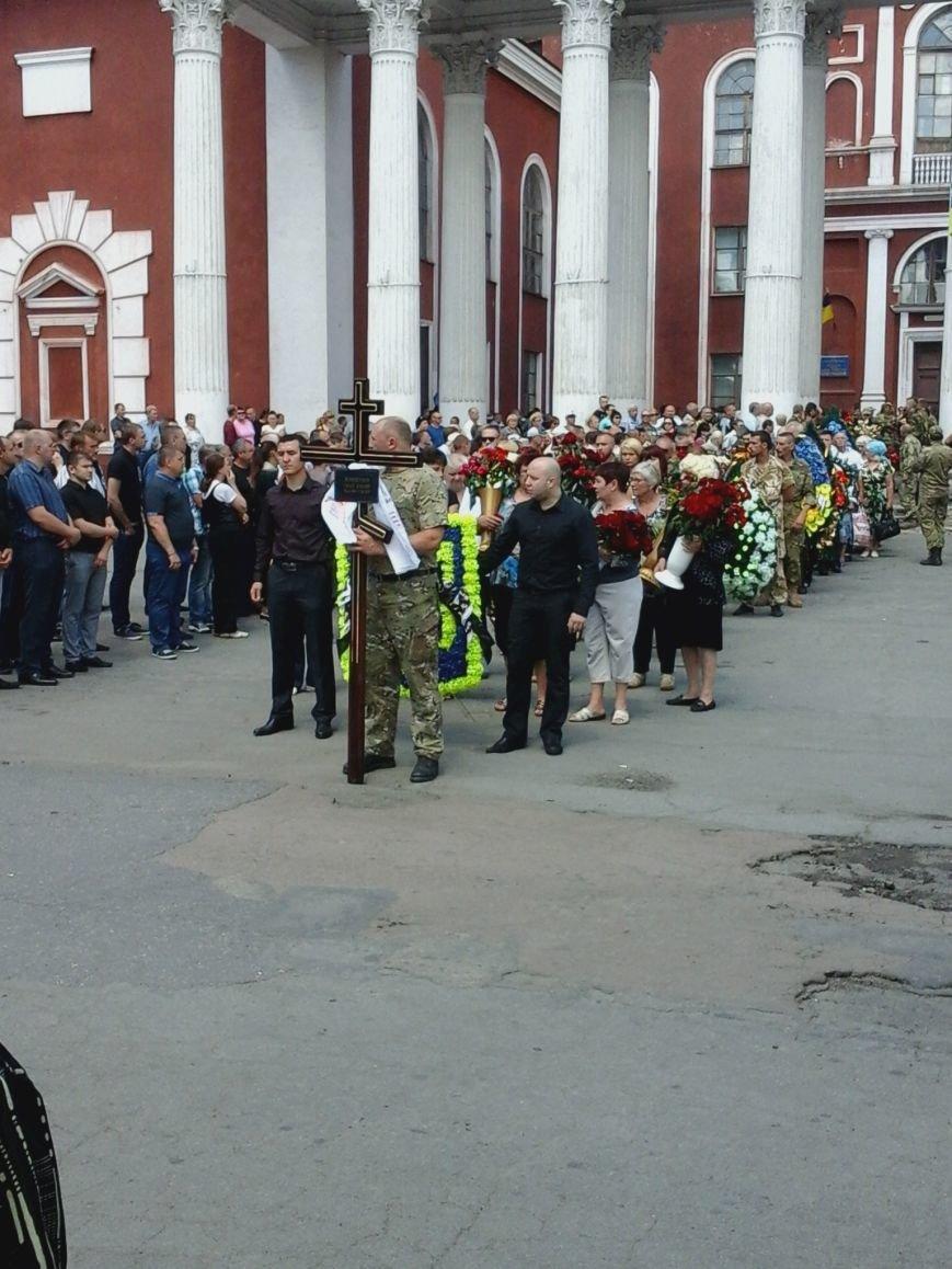 Сотни криворожан, став на колени, провели в последний путь бойца ДУКа Геннадия Дощенко (ФОТО), фото-34