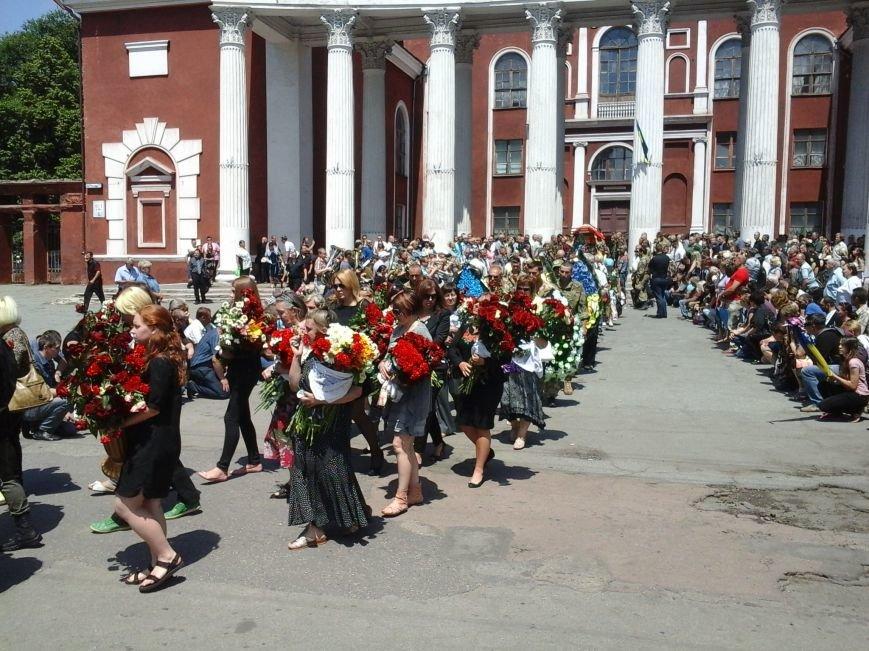 Сотни криворожан, став на колени, провели в последний путь бойца ДУКа Геннадия Дощенко (ФОТО), фото-46