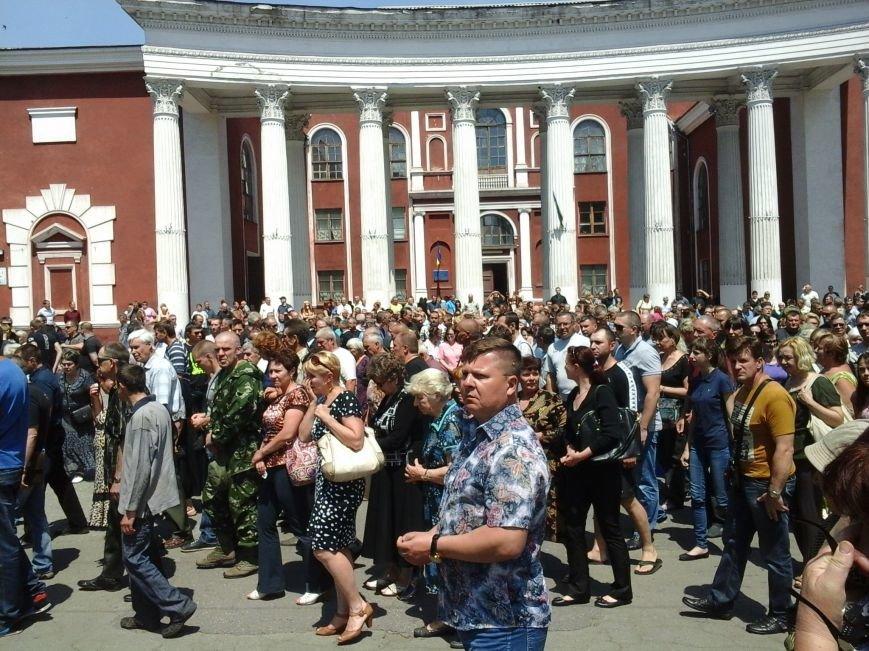 Сотни криворожан, став на колени, провели в последний путь бойца ДУКа Геннадия Дощенко (ФОТО), фото-57