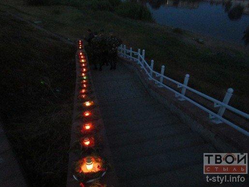 Гродненцы пустили 22 венка по Неману в память о Великой Отечественной войне (фото) - фото 8