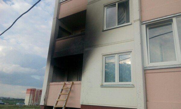 Фотофакт: На Ольшанке горел балкон (фото) - фото 1