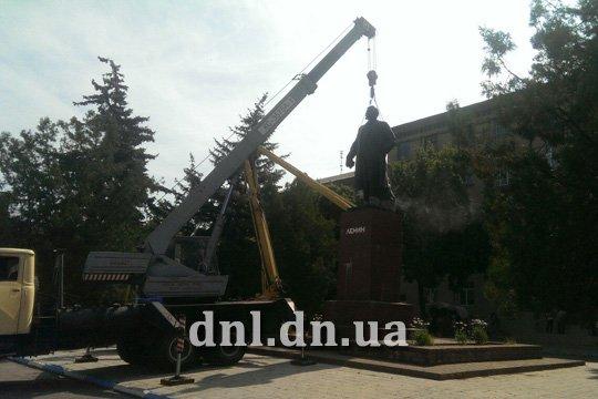 В Дружковке убирают Ленина с постамента (ФОТО) (фото) - фото 2