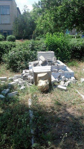 На Николаевщине нагло повалили «вождя пролетариата» (ФОТО) (фото) - фото 2
