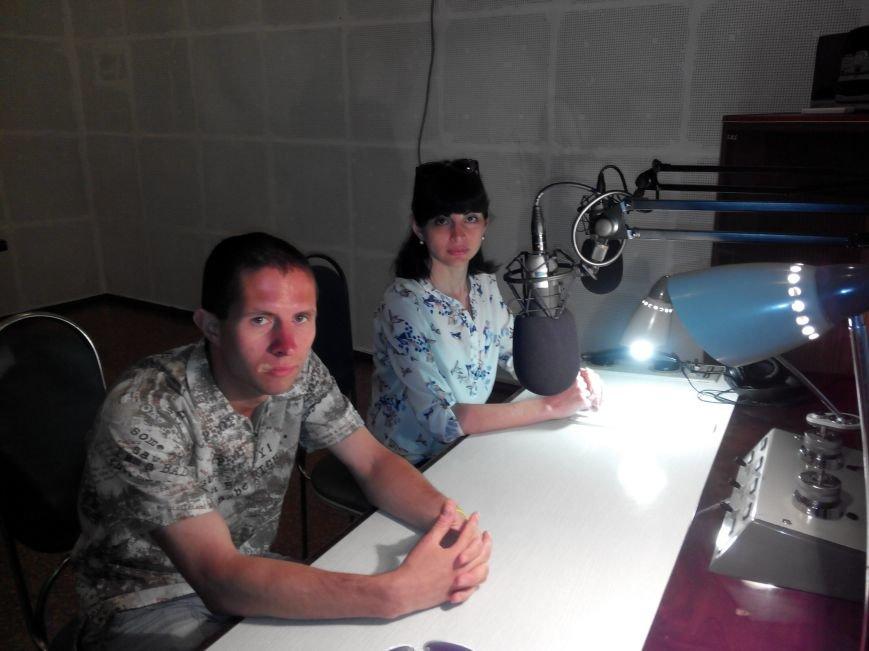 Віра Микольченко під час запису