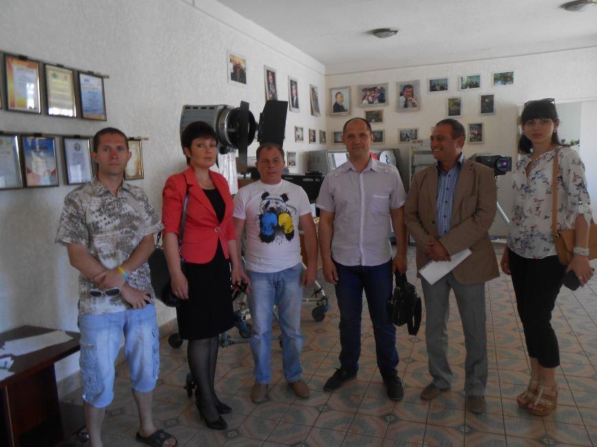 Робоча група із запису спогадів про Майдан (друга ліворуч - Тетяна Цимбал)