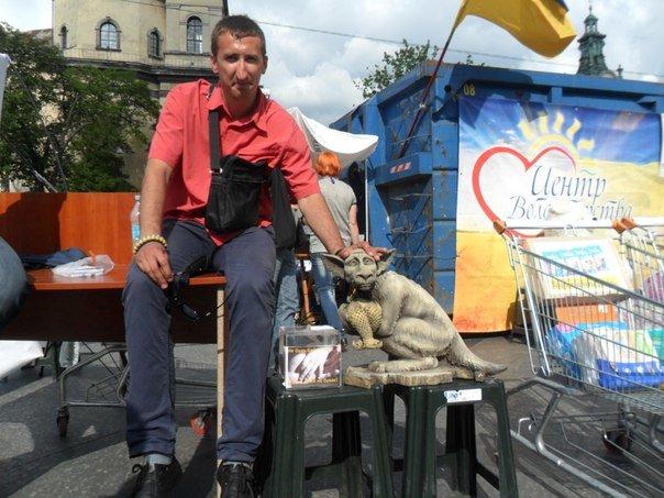 У Львові «Путін-Чупакабра» збирає гроші для бійців, що на передовій (ФОТО) (фото) - фото 1
