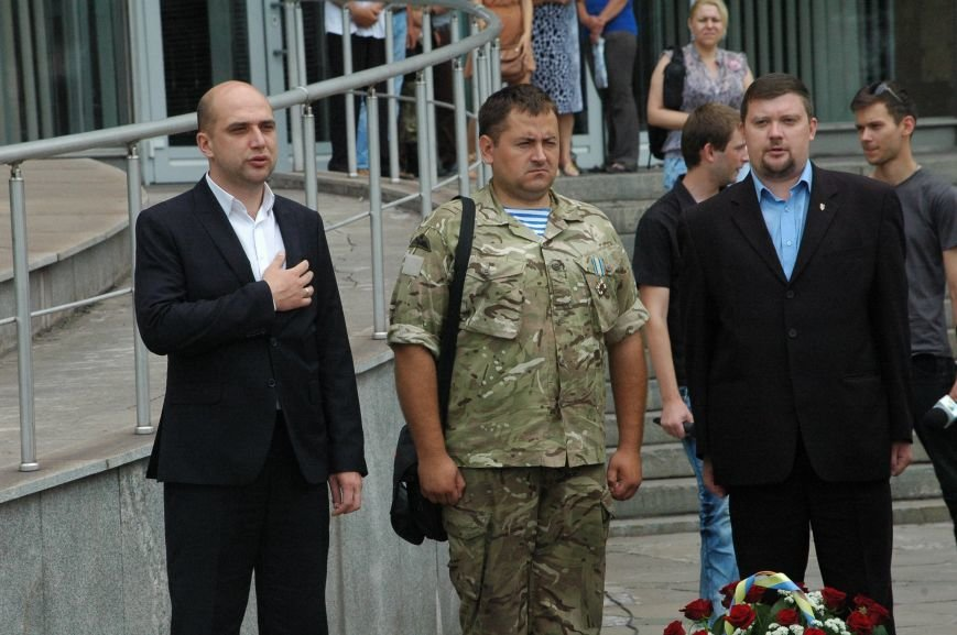 В Запорожье митинг ко Дню Конституции прошел под знаменами Украины и президентской партии (ФОТО), фото-4