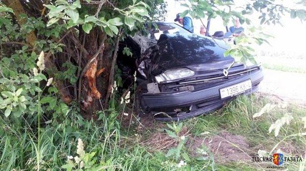 В Лидском районе гродненца госпитализировали в состоянии алкогольной комы после того, как он въехал в дерево (фото) - фото 1