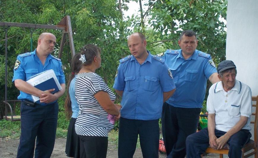 Жители села Димитрово обсудили с милицией Красноармейска дальнейшее сотрудничество, фото-3