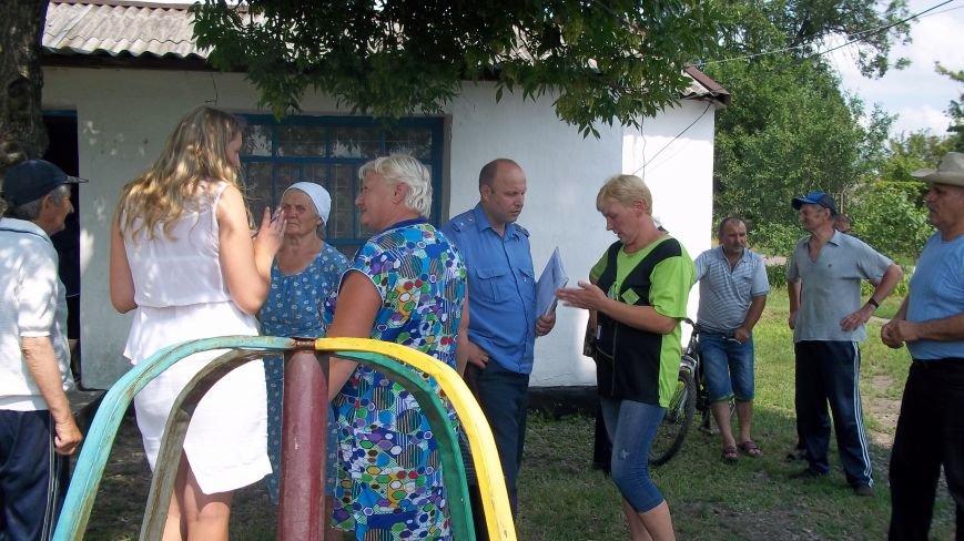 Жители села Димитрово обсудили с милицией Красноармейска дальнейшее сотрудничество, фото-1