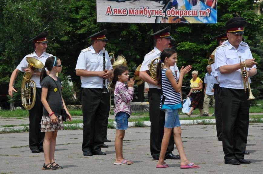 На центральной площади Краматорска состоялось мероприятие посвященное Дню Конституции (ФОТО и ВИДЕО), фото-13