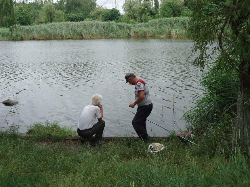 Сегодня в парке «Юбилейный» Красноармейска ловили золотую рыбку, мерялись богатырской силушкой и гоняли мяч (фото) - фото 4