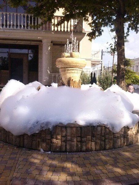 В центре Симферополя вспенился фонтан (ФОТОФАКТ), фото-1