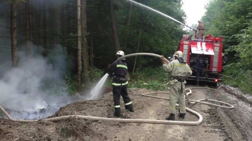 Буковинські рятувальники  вчилися  гасити  масштабну  лісову пожежу (ФОТО) (фото) - фото 5