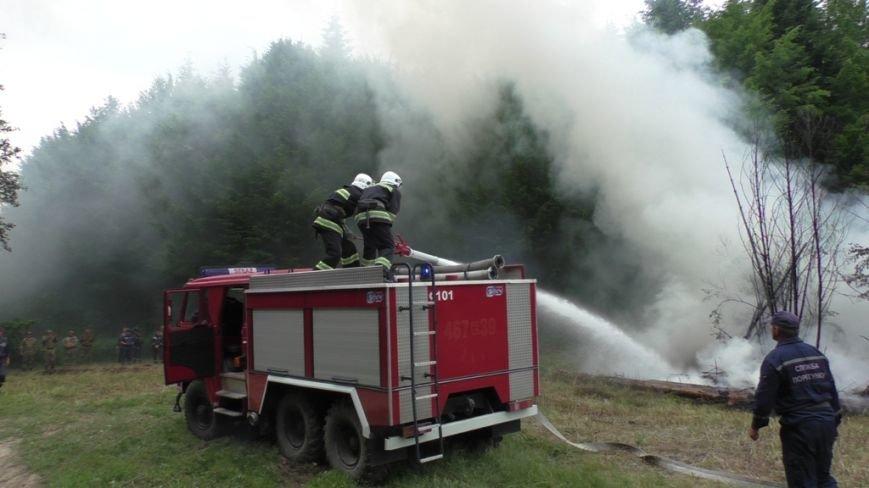 Буковинські рятувальники  вчилися  гасити  масштабну  лісову пожежу (ФОТО) (фото) - фото 6