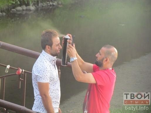 Фотофакт: певец из Ирака снимает клип в парке Жилибера (фото) - фото 3
