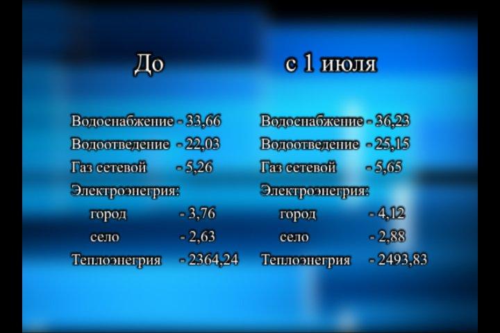 Новые тарифы 1