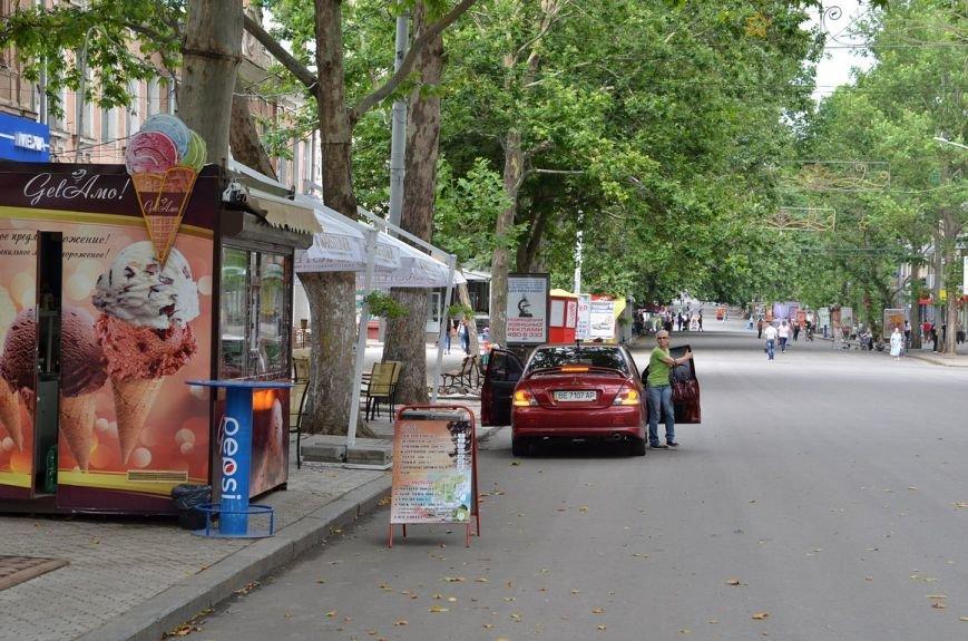 В Николаеве лихач припарковался посреди пешеходной улицы (ФОТО) (фото) - фото 1