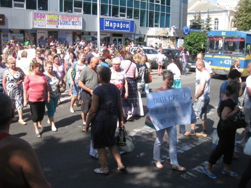 Торговцы с Центрального рынка на час перекрыли главную дорогу Чернигова, фото-11