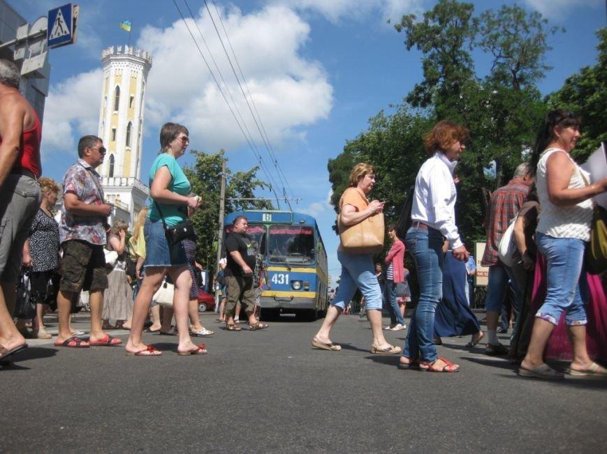 Торговцы с Центрального рынка на час перекрыли главную дорогу Чернигова, фото-13
