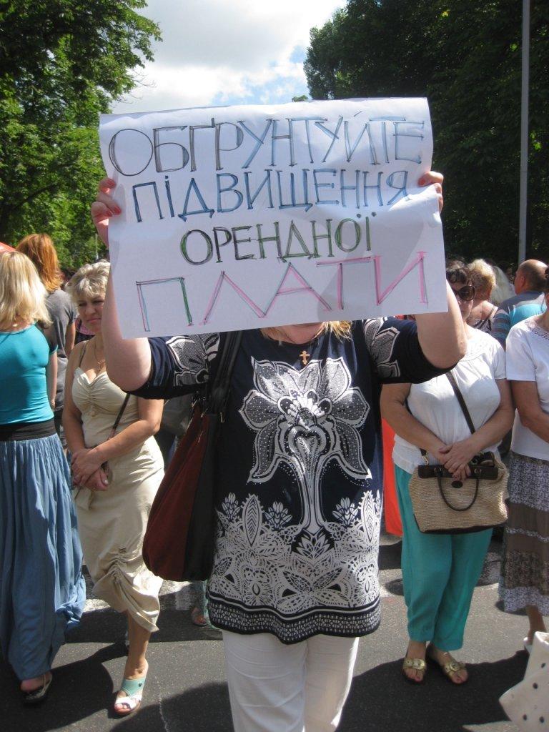 Торговцы с Центрального рынка на час перекрыли главную дорогу Чернигова, фото-12
