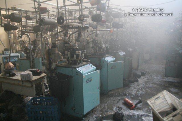 У Тернополі ледь не згорів в'язальний цех (фото) (фото) - фото 1