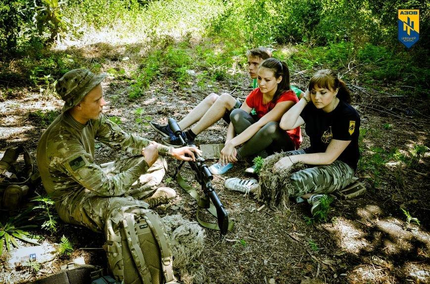 «Азов» обучал мариупольцев военному делу (ФОТО), фото-15