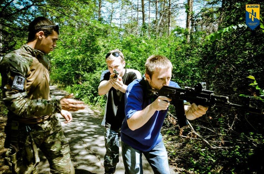 «Азов» обучал мариупольцев военному делу (ФОТО), фото-14