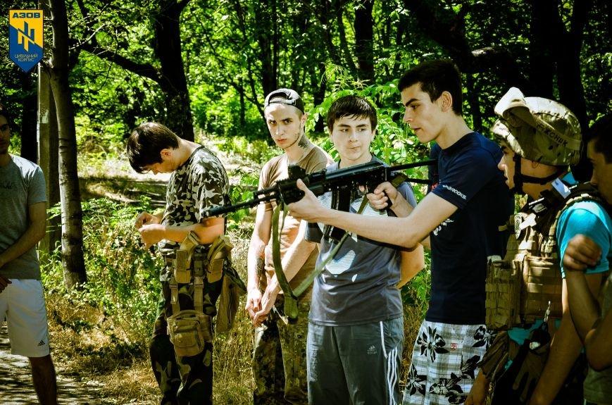 «Азов» обучал мариупольцев военному делу (ФОТО), фото-4