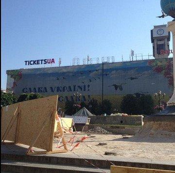 В Киеве отремонтируют Колонну возле Главпочтамта (ФОТОФАКТ) (фото) - фото 1