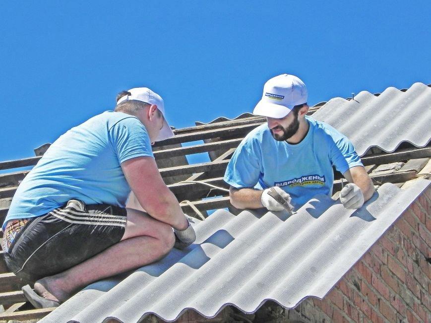 «Відродження» помогает восстанавливать Волосское после торнадо (фото) - фото 3