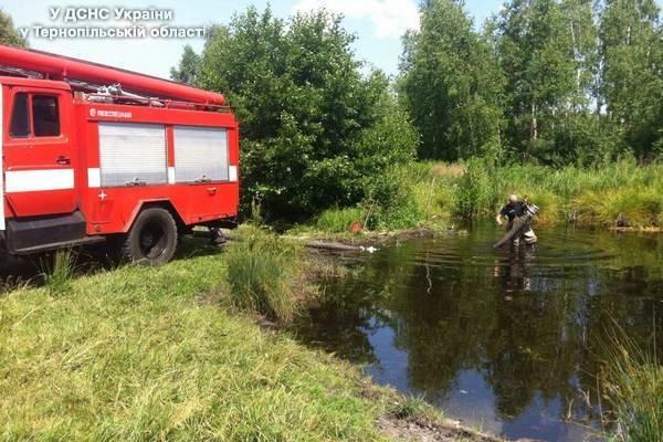 На Тернопільщині рятувальники гасили пожежу на території торфполя (фото) (фото) - фото 1