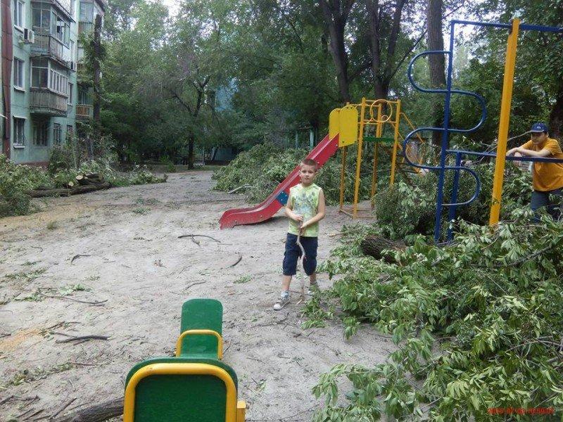 Коммунальщикам на заметку: разбитая дорога на Анголенко, заваленная деревьями детская площадка, и другие неприятности (ФОТО) (фото) - фото 3