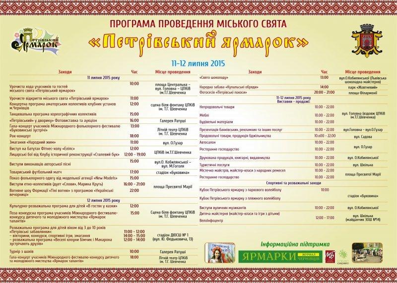 На вихідні у Чернівцях пройде Петрівський ярмарок, фото-2