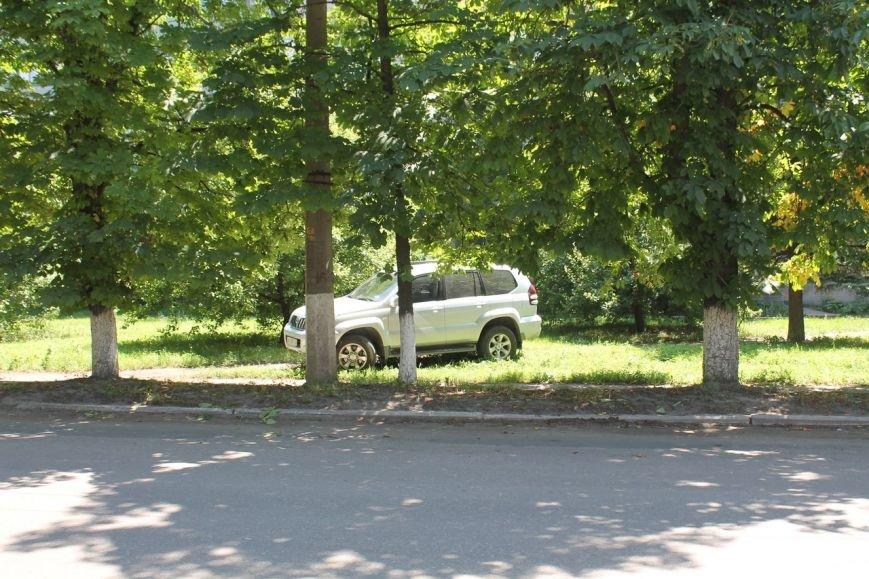 СтопХам по-славянски: депутат горсовета позволяет себе парковаться в зеленой зоне. ФОТО-ВИДЕО (фото) - фото 2